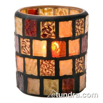 HLW6201A - Hollowick - 6201A - Amber Mosaic Votive Lamp Product Image