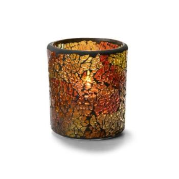 HLW6301RG - Hollowick - 6301RG - Crackle Red & Gold Votive Lamp Product Image