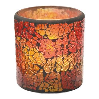 HLW6351RG - Hollowick - 6351RG - Crackle Red & Gold Frosted Votive Lamp Product Image