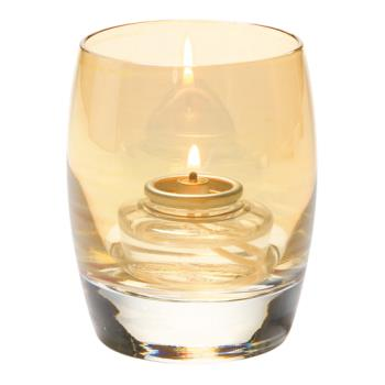 HLW6404G - Hollowick - 6404G - Contour Gold Lustre Votive Lamp Product Image