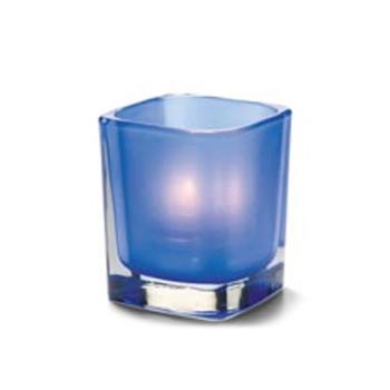 HLW6505SDB - Hollowick - 6505SDB - Tetra Satin Dark Blue Votive Lamp Product Image