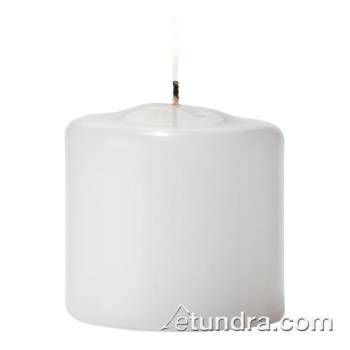 "HLWP25W36 - Hollowick - P2.5W-36 - Select Wax 2 1/2"" White Pillar Candle Product Image"