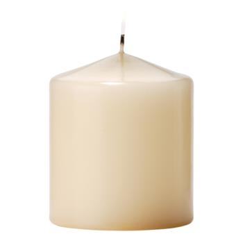 "HLWP3X3I12 - Hollowick - P3X3I-12 - Select Wax 3"" Ivory Pillar Candle Product Image"