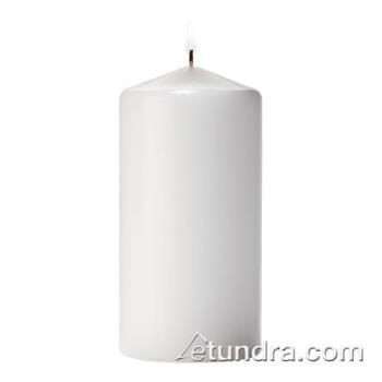 "HLWP3X6W12 - Hollowick - P3X6W-12 - Select Wax 6"" White Pillar Candle Product Image"