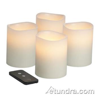 "HLWWP46ITR - Hollowick - WP46ITR - Smart Candle 6"" x 4"" Flameless Pillar Candle Product Image"
