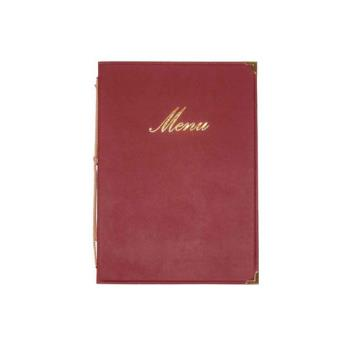 AMMMCCRLSWR - American Metalcraft - MCCRLSWR - Wine Red Menu Cover Product Image