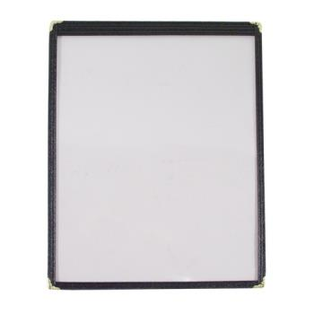 "86466 - Menu Solutions - SEC300C-BLACK - 8 1/2"" x 11"" Single Menu Cover Product Image"