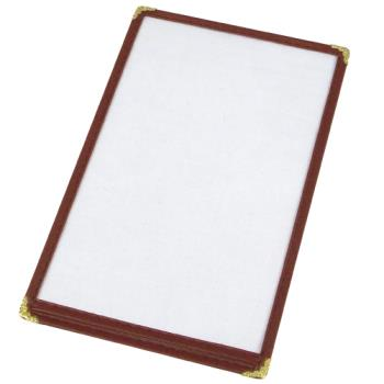 WINPMC5U - Winco - PMC-5U - 8 1/2 in x 5 1/2 in Burgundy Single Menu Cover Product Image