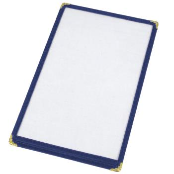 WINPMC9B - Winco - PMC-9B - 12 in x 9 1/2 in Blue Single Menu Cover Product Image