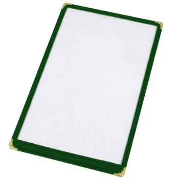 WINPMC9G - Winco - PMC-9G - 12 in x 9 1/2 in Green Single Menu Cover Product Image
