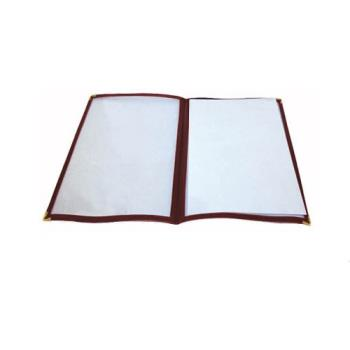WINPMCD14U - Winco - PMCD-14U - 14 in x 8 1/2 in Burgundy Double Fold Menu Cover Product Image