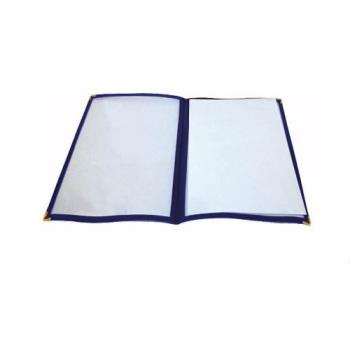 WINPMCD9B - Winco - PMCD-9B - 12 in x 9 1/2 in Blue Double Fold Menu Cover Product Image