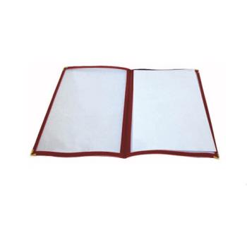 WINPMCD9R - Winco - PMCD-9R - 12 in x 9 1/2 in Red Double Fold Menu Cover Product Image