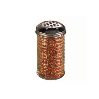 AMMBEE319 - American Metalcraft - BEE319 - 12 oz Glass Beehive Cheese Shaker w/Extra Large Hole Top Product Image