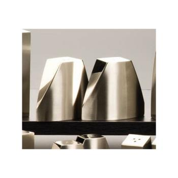 AMMSPDX22 - American Metalcraft - SPDX22 - 3.2 oz Angled Stainless Steel Salt & Pepper Set Product Image