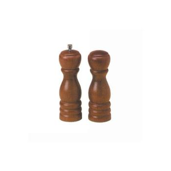 "AMMWPMS62 - American Metalcraft - WPMS62 - 6"" Wood Salt & Pepper Mill Set Product Image"