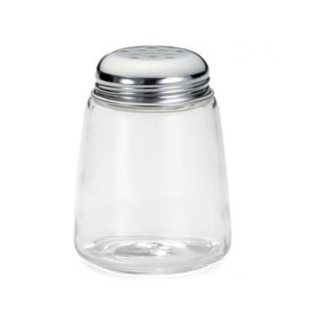 TAB261 - Tablecraft - 261 - Glass 8 oz Cheese Shaker With Chrome Lid Product Image