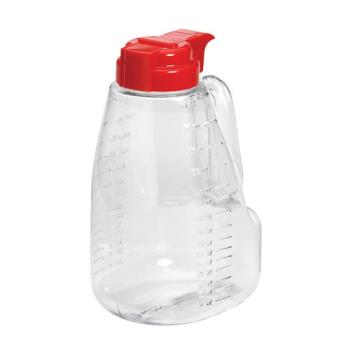 TABL64R - Tablecraft - L64R - 64 oz Red Syrup Dispenser Product Image