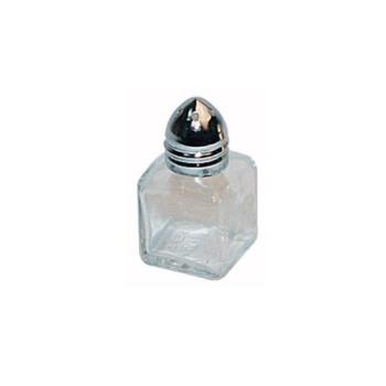 WING100 - Winco - G-100 - 1/2 Oz Square Glass Shaker w/Chrome Top Product Image