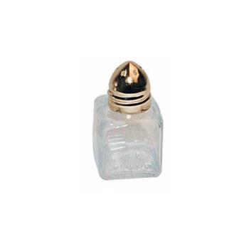 WING101 - Winco - G-101 - 1/2 Oz Square Glass Shaker w/Gold Top Product Image