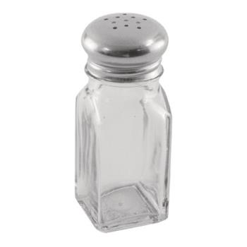 85712 - Winco - G-109 - 2 oz Square Glass Salt & Pepper Shaker Product Image