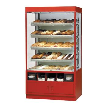 "FEDWDC4276SS - Federal - WDC4276SS - 42"" x 76"" Non-Refrigerated Self-Serve Wall Display Case Product Image"