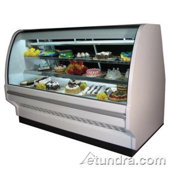 "HWDSCCBS40E4CLS - Howard McCray - SC-CBS40E-4C-LS - 51"" x 53"" White Bakery Case Product Image"