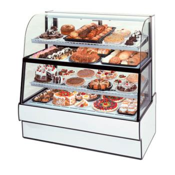 "FEDCGR3660DZH - Federal - CGR3660DZH - Curved Glass 36"" x 60"" Dual Zone Bottom/Top Bakery Case Product Image"