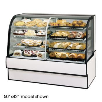 "FEDCGR7748DZ - Federal - CGR7748DZ - Curved Glass 77"" x 48"" Dual Zone Left/Right Bakery Case Product Image"
