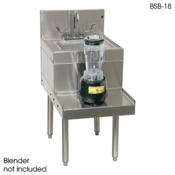 "GLTBSA18L - Glastender - BSA-18L - 18"" x 24"" Blender Station w/Left Mount Faucet Product Image"
