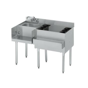 KRO18W42R7 - Krowne - 18-W42R-7 - 42 in 1800 Series Cold Plate Cocktail Workstation w/ Right Ice Bin Product Image