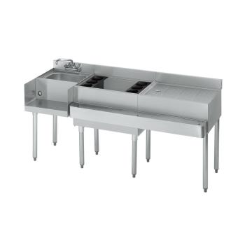 KRO18W66L7 - Krowne - 18-W66L-7 - 66 in 1800 Series Cold Plate Cocktail Workstation w/ Center Ice Bin Product Image