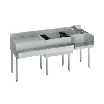 "KRO18W66R - Krowne - 18-W66R - 1800 Series 66"" Cocktail Workstation w/Center Ice Bin Product Image"