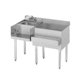 "KRO18W48R7 - Krowne - 18W48R7 - 1800 Series 48"" Cold Plate Cocktail Workstation w/ Right Ice Bin Product Image"