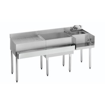 "KRO21W66R - Krowne - 21-W66R - 2100 Series 66"" Cocktail Workstation w/ Right Ice Bin Product Image"