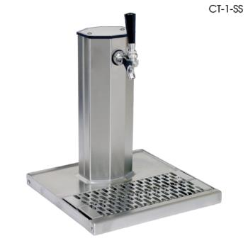 GLTCT1MFR - Glastender - CT-1-MFR - 1-Faucet Mirror Finish Glycol Column Tower w/Drain Pan Product Image