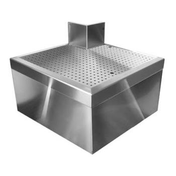 "GLTOFCA90 - Glastender - OFCA-90 - 19"" Outside Full Corner Drainboard Product Image"