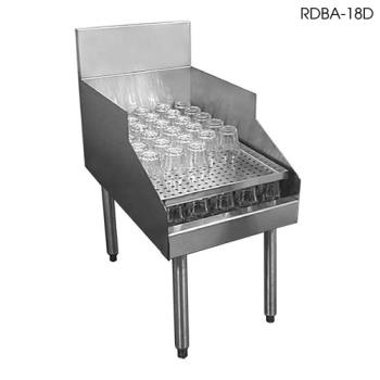 "GLTRDBA24D - Glastender - RDBA-24D - 19"" Underbar Double Speed Rail 24"" Recessed Drainboard Product Image"