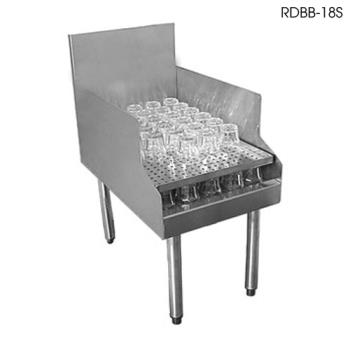 "GLTRDBB30S - Glastender - RDBB-30S - 24"" Underbar Single Speed Rail 30"" Recessed Drainboard Product Image"