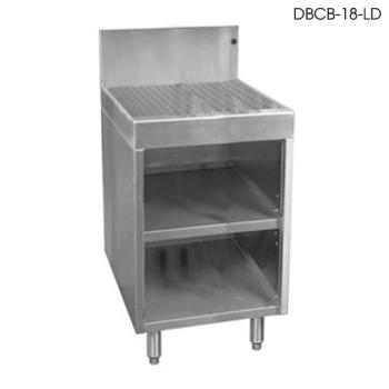"GLTDBCB18LD - Glastender - DBCB-18-LD - 18"" x 24"" Underbar Open Front Drainboard Cabinet Product Image"