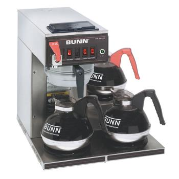 BUN129500216 - Bunn - CWTF15-3 - Automatic Coffee Brewer w/ 3 Lower Warmers Product Image