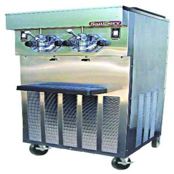 SNS724 - SaniServ - 724 - Floor Model Twin 20 Gal/Hr 40 Qt Frozen Beverage Machine Product Image