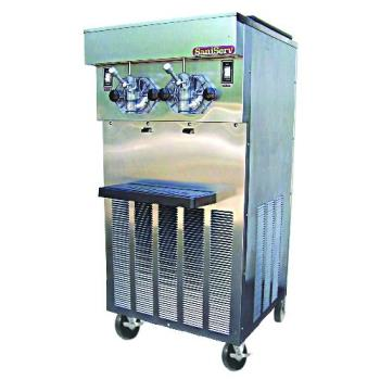 SNS724 - SaniServ - 724 - Floor Model Twin gal/Hr 40 qt Frozen Beverage Machine Product Image