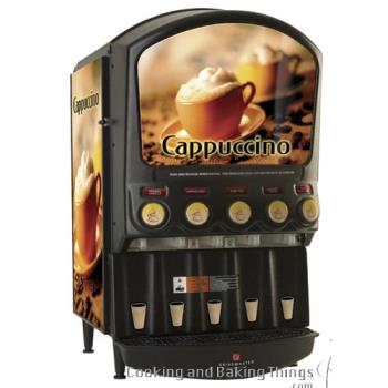 GRIPIC5I - Grindmaster - PIC5I - 5 Flavor Hot Chocolate/Cappuccino Dispenser with Side Merchandiser Product Image