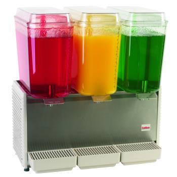 95448 - Crathco - D35-3 - 3 Bowl Refrigerated Beverage Dispenser with S/S Side Panel Product Image