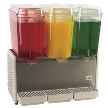 GRID354 - Crathco - D35-4 - 3 Bowl Refrigerated Beverage Dispenser with Plastic Side Panels Product Image