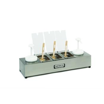 NEM88101CB2P - Nemco - 88101-CB-2P - Condiment Bar with 0.6 Qt S/S Pans and Ice Packs Product Image