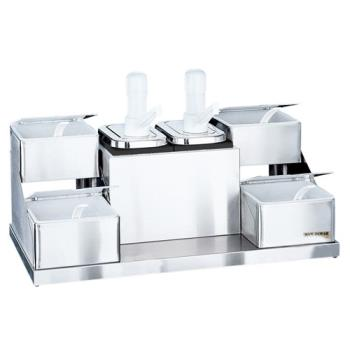 76179 - San Jamar - P9724 - 4 qt Self-Service Condiment Center Product Image