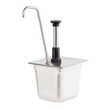 SVP83437 - Server - 83437 - Stainless Steel 1/4 Size Steam Table Pan Pump w/Tall Spout Product Image