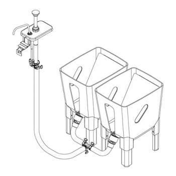 SVP85784 - Server - 85784 - Remote 3 Gallon Dispensing System For 1 Pump to 2 Pouches Product Image